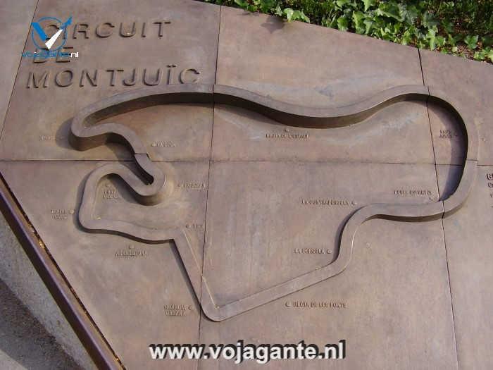 Barcelona - Gedenkteken aan het circuit van Montjuïc