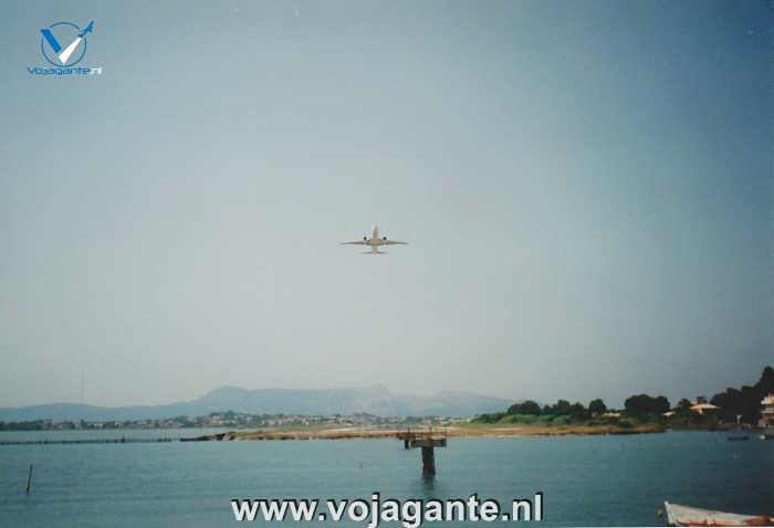 Corfu 2000 - Vanaf de dam bij de luchthaven en Kanoni